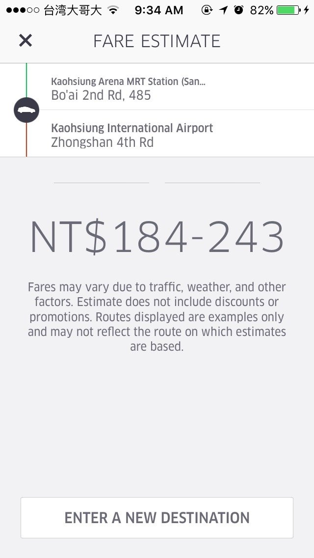 A regular taxi fare would be around $400 for this journey